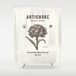 Farm the World Artichoke Seed Packet Shower Curtain