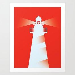 Lighthouse (RED) Art Print