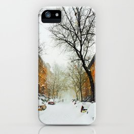 NYC @ Snow Time iPhone Case