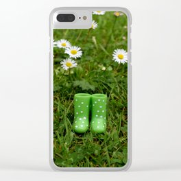 wellies Clear iPhone Case