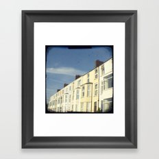 Home by the sea Framed Art Print