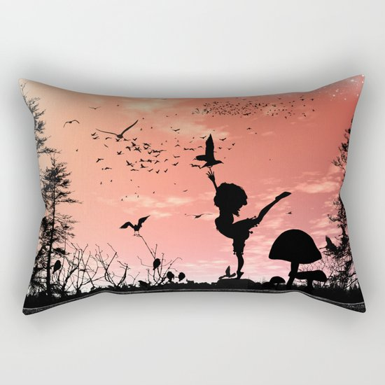 Dancing with the birds Rectangular Pillow