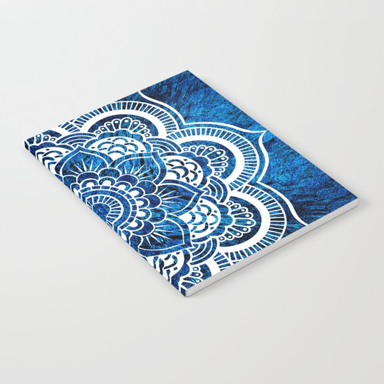 Mandala Cerulean Blue Colorburst Notebook