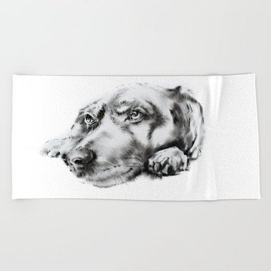 My dog Beach Towel