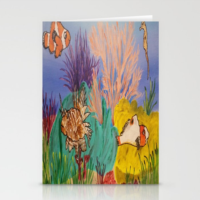 Circus Under the Sea Stationery Cards