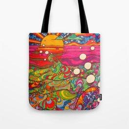 Psychadelic Illustration Tote Bag