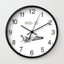 MiG-21 Jet Figter Wall Clock