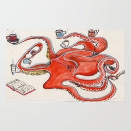 Olive the Octopus Barista Rug