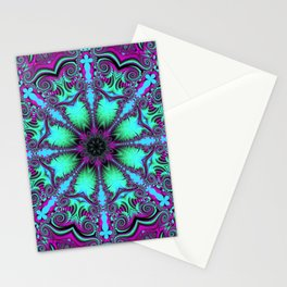 The blooming mandela Stationery Cards
