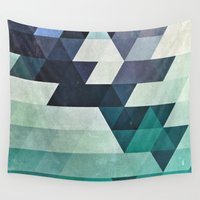 spires Wall Tapestries featuring aqww hyx by Spires