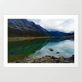 Reflections in Medicine Lake in Jasper National Park, Canada Art Print