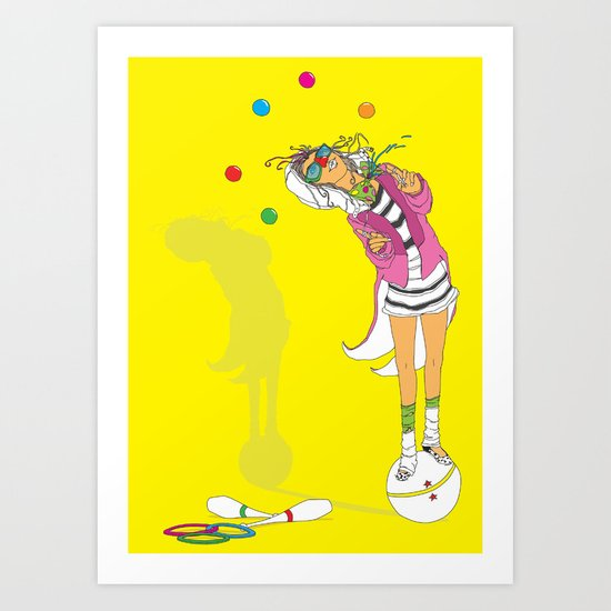 the performer Art Print