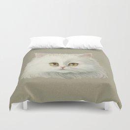 My White Cat's Face Duvet Cover