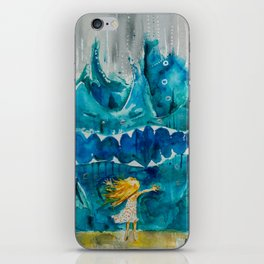 Sometimes Sea gets Mad. But we stay Friends. iPhone Skin