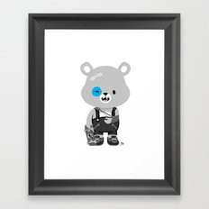 Bruised Bear Framed Art Print