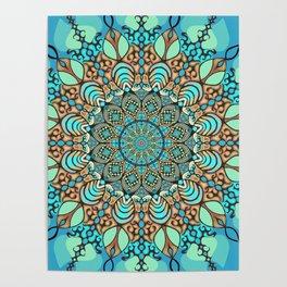 Zentangle Mandala 180218 - Bohemian Mandala Poster