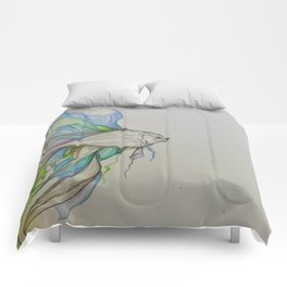 Fighting Fish Comforters
