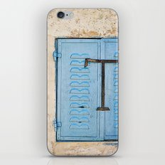 Vibrant Blue Window in Stone Wall iPhone & iPod Skin