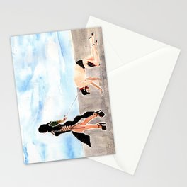 Mistress Stella and Her dog Stationery Cards