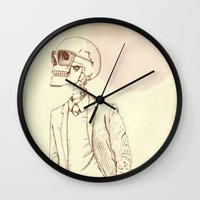 gentleman Wall Clocks featuring Gentleman by Mike Koubou