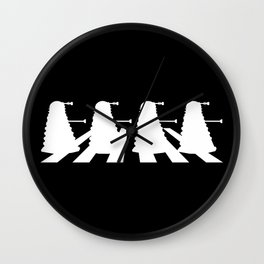 Daleks on Abbey Road Wall Clock