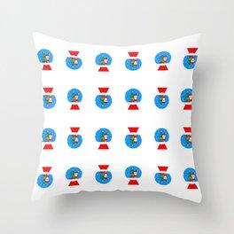 Santa Snowglobes Throw Pillow