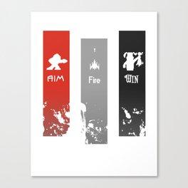 Aim, Fire, Win Canvas Print