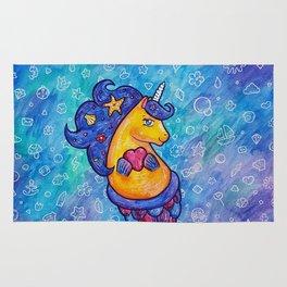 Cute Mermicorn Ocean Doodle Rug