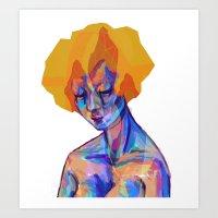 Hair Crystals Art Print