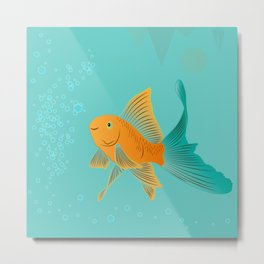 Approaching Dusk - Under The Sea Metal Print