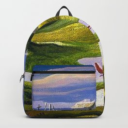 Martha's Vineyard coastal nautical landscape painting by Thomas Hart Benton Backpack
