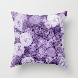 bouquet ver.purple Throw Pillow