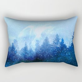 The forest awakens from the mist Rectangular Pillow