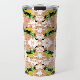 Hippopotamus Yellow/Green Travel Mug