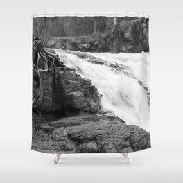 Washed Out Roots Shower Curtain