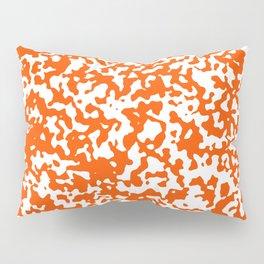 Small Spots - White and Dark Orange Pillow Sham