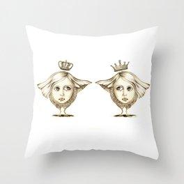 Siamese Queens Throw Pillow