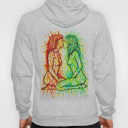 Sexual Energy - Erotic Art Illustration Nude Sex Sexual Love Lovers Relationship Lesbian Couple LGBT Hoody