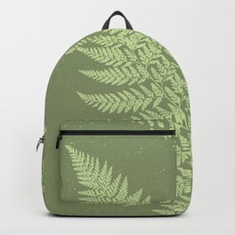 Dark olive fern Backpack