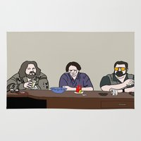 big lebowski Area & Throw Rugs featuring The Big Lebowski by Josh Ross Illustration