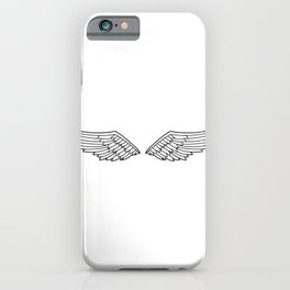 White Wings Outline iPhone Case