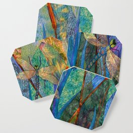 Colorful Dragonflies Coaster