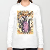 jaws Long Sleeve T-shirts featuring Jaws by Heaven7