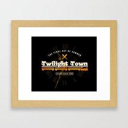 Twilight Town Framed Art Print