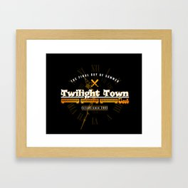Twilight Town Framed Art Print