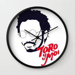 Toro Y Moi - Minimalistic Print Wall Clock