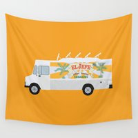 chef Wall Tapestries featuring chef by Live It Up