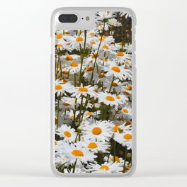A Field of Oxeye Daisies Clear iPhone Case