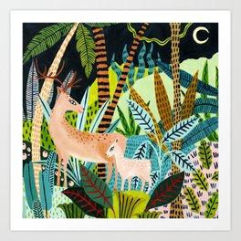 Woodland Deer & Fawn Art Print