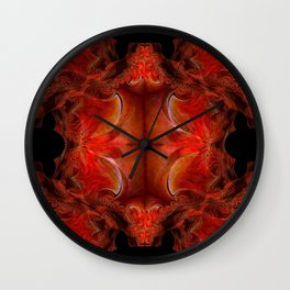 Red FIS Abstract 1 Wall Clock